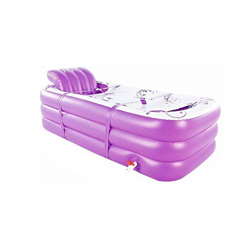 NXYJD Bañera Inflable, Espesado Adulto Bañera, Bañera Plegable Bañera, plástico de hidromasaje