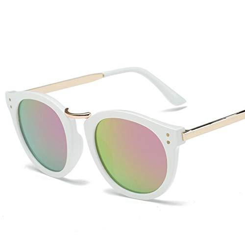 N/A Gafas de Sol para Hombre Gafas de Sol para Mujer Nuevas Gafas de Sol con Tendencia a la Moda, Gafas de Sol Reflectantes de película de Color metálico