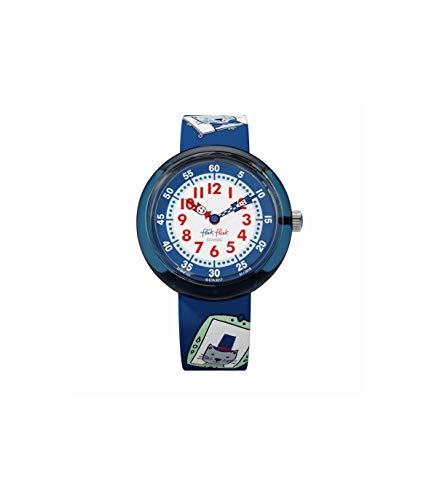 Flik Flak Mädchen Analog Quarz Uhr mit Stoff Armband FBNP101