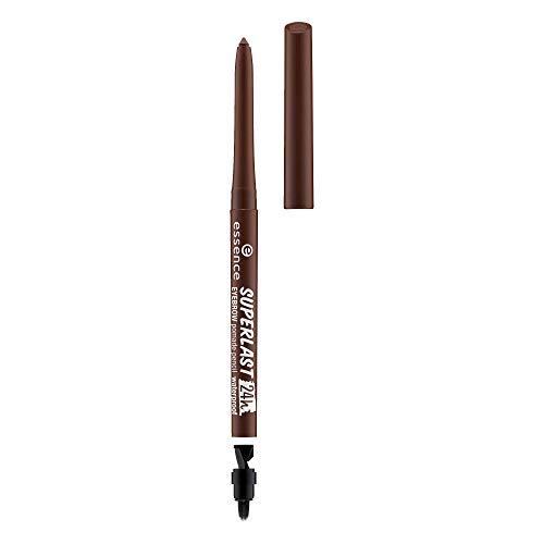 essence SUPERLAST 24h eyebrow pomade pencil waterproof, Kajal, 24 Stunden Halt, Nr. 30 dark brown, braun, vegan, wasserfest, Nanopartikel frei (0,31g)