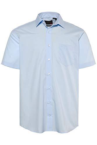 JP 1880 Herren große Größen bis 8XL, Halbarm-Hemd, Businesshemd, Popeline-Gewebe, bügelfrei, Kent-Kragen, Brusttasche blau XL 713990 71-XL