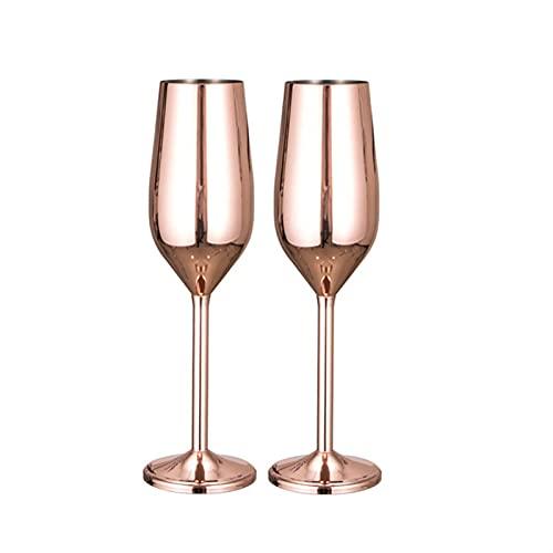 Gafas de champán de fiesta Copas de vino de bodas Conjunto grande Sistema de acero inoxidable Taza de vino tinto Sportproof Cobeblet para la herramienta de cocina de barware (Color : 2pcs)