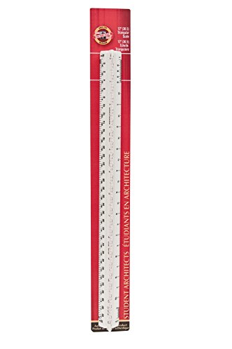 Koh-I-Noor Architect Triangular Scale, Student-Grade, 12 Inches, 1 Each (3272BC)