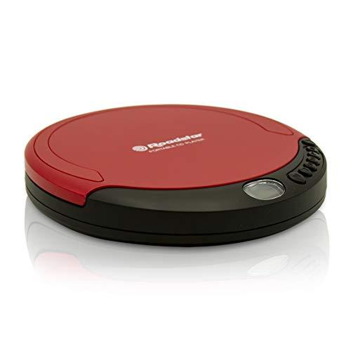 Roadstar PCD-435CD bärbar CD-spelare inklusive röda hörlurar