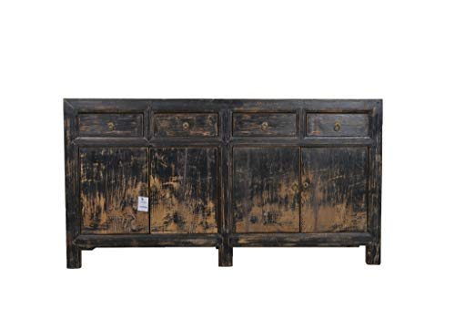 Fine Asianliving Antieke Chinese Dressoir Zwart Donker - Gansu, China