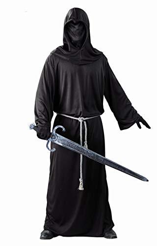 Fiestas Guirca- Costume da Cavaliere Oscuro, Uomo, Colore Nero, Large, 80479