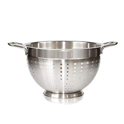 MENGzhuHSA Kitchen Stainless Steel Colander Fruit Vegetable Washing Basket Strainer Kitchen Storage for Cooking,straining pasta noodles (Color : Model 5876)