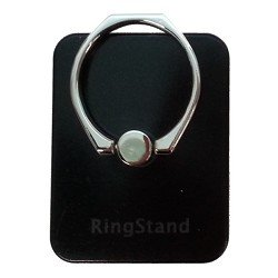 RingStand Universal Smart Ring Holder and Stand for Smartphones or Mini Tablets - for iPhone 6/6 Plus/5S/5/4S Galaxy S6/S6 Edge/S5/S4 - BLACK