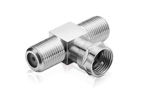 adaptare 60603 Sat-T-Stück 1-mal F-Stecker auf 2-mal F-Buchse