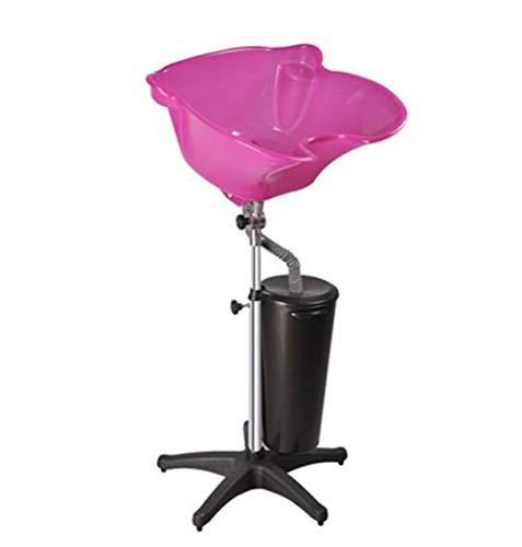Friseur Waschbecken Mobiles, Verstellbar Und Schwenkbar/Friseur Werkzeugwagen Schönheit/Familie/Höhenverstellbar,Pink