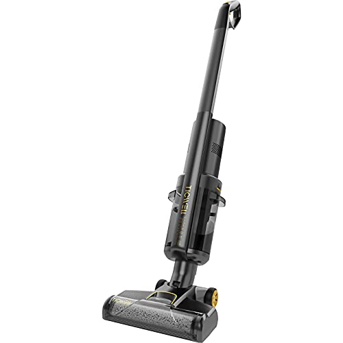 TICWELL Whale W1 Cordless Wet Dry Vacuum Cleaner, Lightweight Hardwood Floors Cleaner for Multi-Surface Floor Cleaning, Great for Sticky Messes and Pet Hair, Black