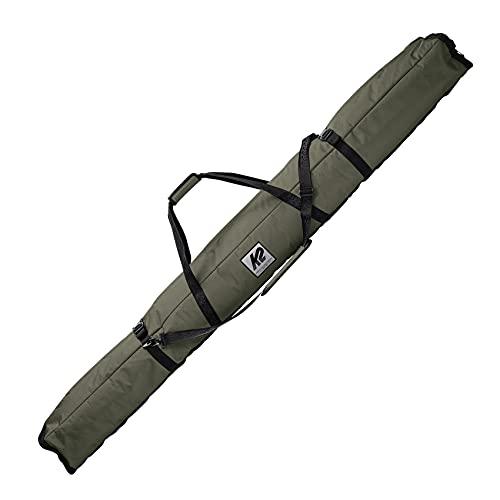 K2 Snow Erwachsene Skitasche K2 Double Padded SKI Bag — mlt Green — 20E5001 Bolsa para esquís, Unisex Adulto, Verde, 175 cm (Volumen: 40 l)