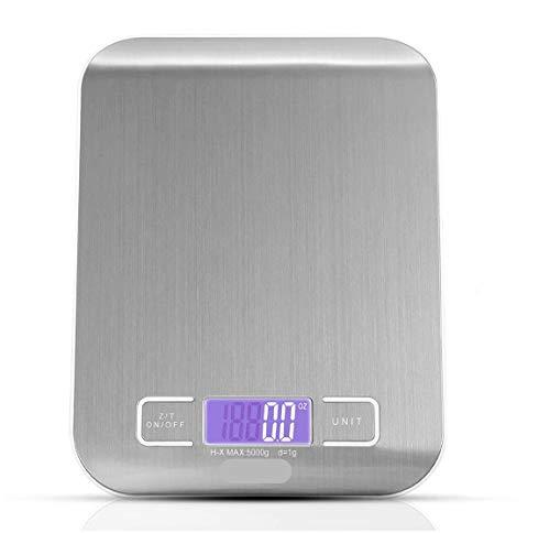 Plata 0.1G Escala Digital de Cocina LCD Balanza electr/ónica Balanzas de Peso para Alimentos VCB 3Kg