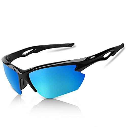 BONDDI Fahrradbrille, Sportbrille für Herren Damen, TR90 Unbreakable Frame Polarisierte Sportsonnenbrille mit UV400 Schutz, für Radfahren Angeln Golf Baseball Laufen Wandern Klettern CE Zertifiziert