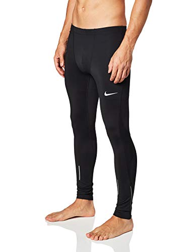 Nike M Nk Run Tght Pantalones, Hombre, Negro, M