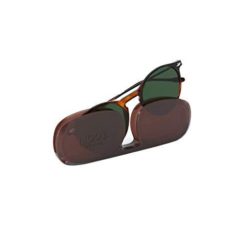 Nooz Gafas de sol polarizadas para hombre y mujer - Protección de categoría 3 - Color tortuga - con estuche compacto - Colección CRUZ