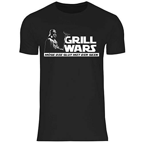 wowshirt Herren T-Shirt Grill-Schürze Grillen Griller BBQ Grillmeister Wurst Steak Barbecue, Größe:M, Farbe:d2095