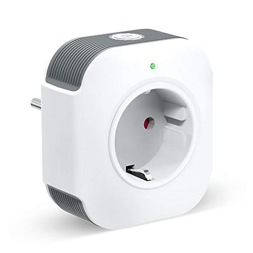 Smart Steckdose Alexa Steckdose 16A with USB, Alexa Stecker mit Timer Funktion Fernsteuerung und Sprachsteuerung, Kompatibel mit Alexa und Google Home, Schnelles USB-Laden, NUR auf 2.4 GHz (1)