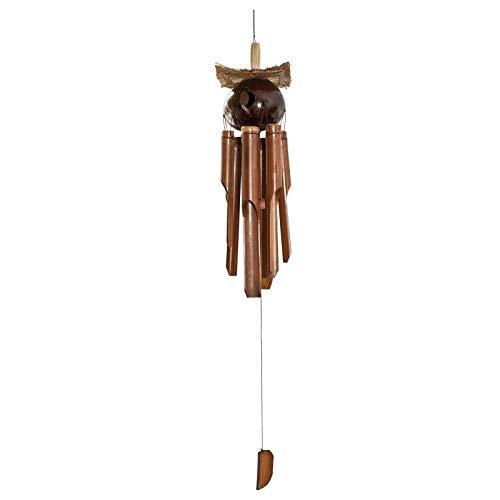 mysale24.de Hochwertiges Bambus Windspiel mit Vogelhaus Gesamtlänge ca.120 cm handgefertigtes Windklangspiel aus Bali ANGENEHMER Klang für Balkon Terrasse Garten oder als Dekoration im Haus