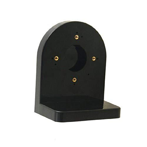 Fliyeong Soporte de pared hemisférico de plástico, soporte de pared para exteriores, soporte de montaje de seguridad, soporte de pared para cámara CCTV, color negro, creativo y útil