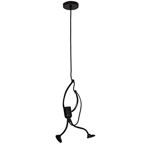 Lámpara Colgante Moderna y Encantadora Lámpara Colgante de Dibujos Animados creativos Vintage (Negro)