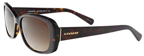 Coach Women's HC8168 Sunglasses Dark Tortoise/Brown Gradient 56mm
