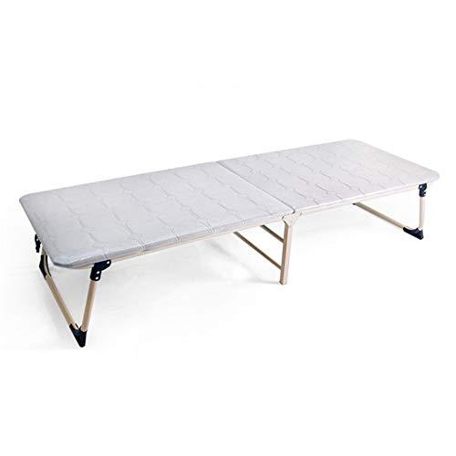 Bett & Matratze Sets Einzelne hochklappbare Klappbettmatratze Aluminium Liegende Holzoberflächen-Komfortmatratze Leichte kompakte wegklappbare Gästebett Tragbares Mehrzweckklappbett für Camping, Wande