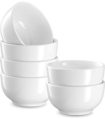 Prep Bowls, by Kook, Ceramic Make, White, Set of 6