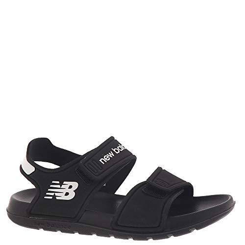 New Balance Kids Boy's SPSD Sandal (Little Kid/Big Kid) Black/White 1 Little Kid