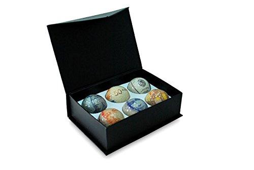 CEBEGO Golfball Sixpack Währungsbälle mit Geldscheinen transparent,Currency Balls in Geschenkbox,Golfgeschenkartikel