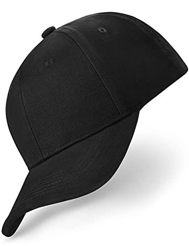 Gorra de béisbol clásica para hombre y mujer de algodón puro, ajustable, gorra de béisbol | color a elegir Negro Talla única