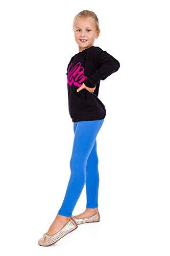 FUTURO FASHION® - Leggings para niñas - Cálidos y gruesos - Algodón - Azul real - Talla 2 años