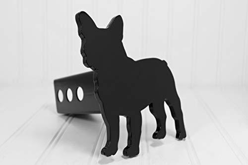 Custom Hitch Covers 12859-Matte Black French Bulldog Hitch Cover, 2'