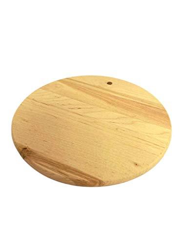 Tabla de cortar redonda de madera natural | diámetro de 20 cm | perfecta para aperitivos o uso diario | Cutting Board