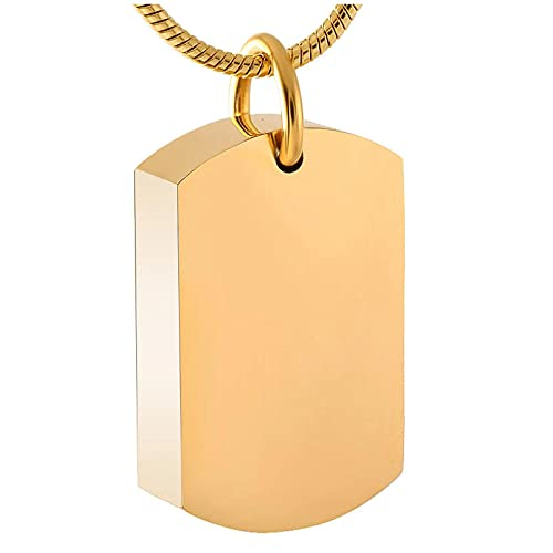 Ysain Collar Joyería De Cenizas Blanco Etiqueta De Perro Conmemorativa Urna Colgante Collar Nunca Se Desvanecen Cenizas De Cremación Collar Grabado Gratis