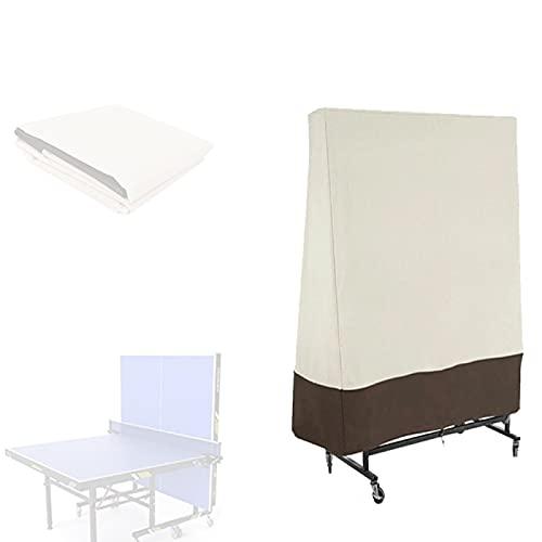 Cubierta de Mesa de Ping Pong Al Aire Libre Impermeable Vertical,Bolsa de Almacenamiento de Tenis de Mesa Anti-ultravioleta y a Prueba de Polvo de Tela Oxford Para Interiores y Exteriores 36x85x160CM