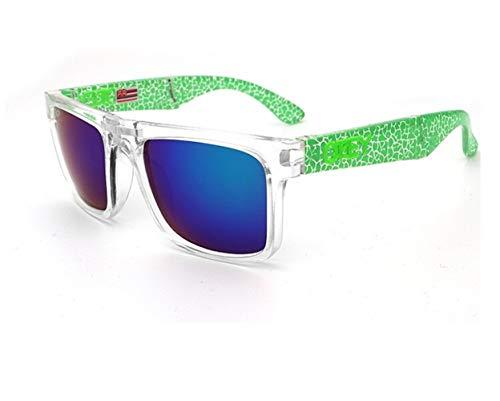 Sonnenbrille Ken Block Markendesigner Sonnenbrille Reflektierende Beschichtung Square Spied for Männer Und Frauen Rechteck Gafas De Sol (Lenses Color : C8)