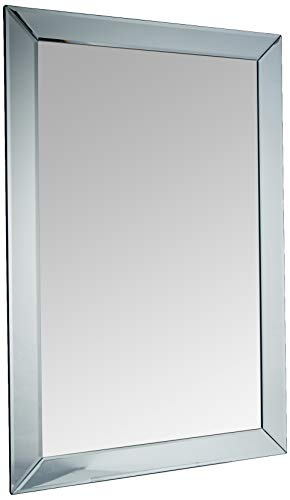 Premier Housewares 1101289 Specchio da Parete, Bordo Smussato, argento, vetro