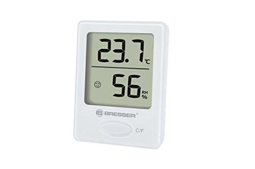 Bresser Thermometer Hygrometer Temeo Hygro-indicator voor neerzetten of wandmontage met kamerklimaat-indicator afzonderlijk wit