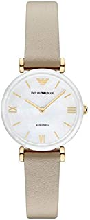 Emporio Armani Wrist Watch Womens Quartz Casual Watch, Analog and Leather - AR11041