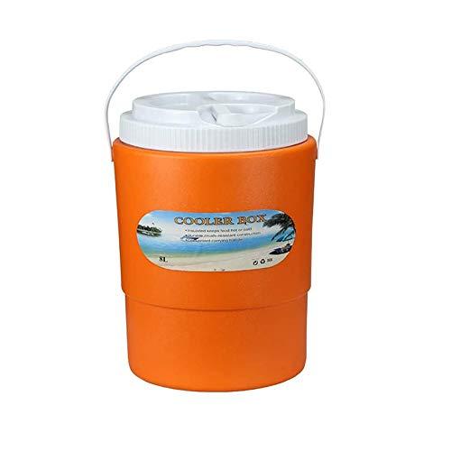 WNN-URG Cubo de hielo al aire libre - Caja del refrigerador portátil de conservación de alimentos congelador fresco que pescan la caja del cubo de hielo cubo de mariscos WNN-URG (Size : 8L 8)