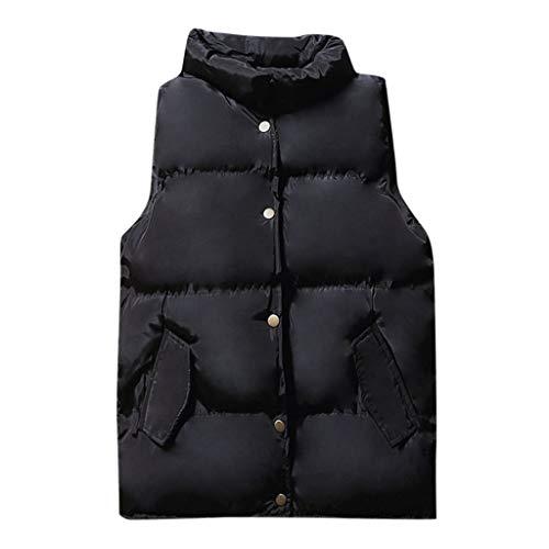MIS1950s Men Winter Warm Solid Color Sleeveless Vest Waistcoat Coat Tops Down Jacket