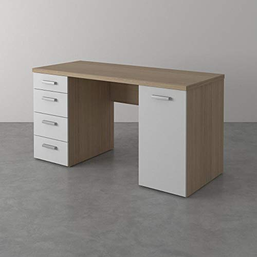 Tvilum Function Plus Schreibtisch, Holz, Quercia/Bianco, Large