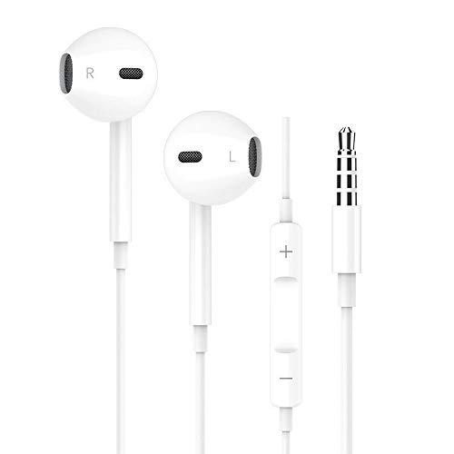 Victorist Écouteurs Intra-Auriculaires, Ecouteurs Oreillettes Haute Qualité Audio [Réduction de Bruit] Casque avec Microphone et 3.5mm Plug pour iPhone 6s, iPhone Se, iPod, Android et MP3