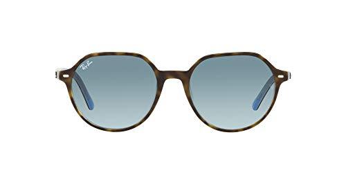 Ray-Ban 0RB2195 Gafas, HAVANA ON LIGHT BLUE, 53 Unisex Adulto