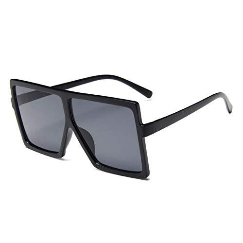 ZZOW Gafas De Sol Cuadradas De Gran Tamaño Vintage para Mujer, Gafas De Sol Grandes A La Moda para Hombre, Gafas De Sol Retro para Mujer, Gafas De Sol Femeninas
