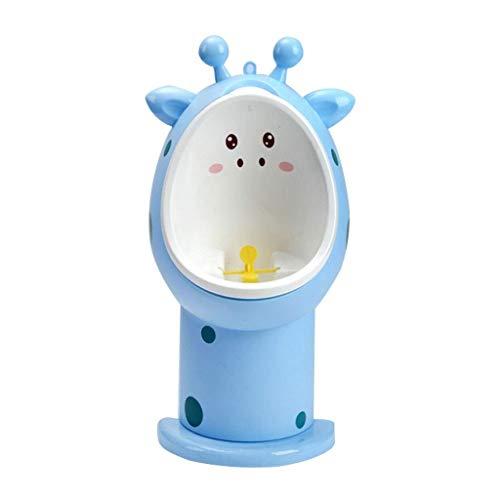 Vasino per Bambini Ragazzo Orinatoio Bambino Bambino Pratica In Piedi Diviso Orinale Montaggio A Parete Altezza Regolabile Giraffa Aspetto 2 Colori 23 * 16 * 47cm