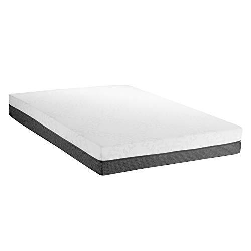 ABAKUHAUS Doppelbett Matratze, Matratze mit Taschenfederkern Doppelt High-Density-Premium-Schaum Luftzirkulierendes Material Atmungsaktiv mit Waschbaren Bezug, 140 cm Weite 200 cm Lange, Weiss Grau