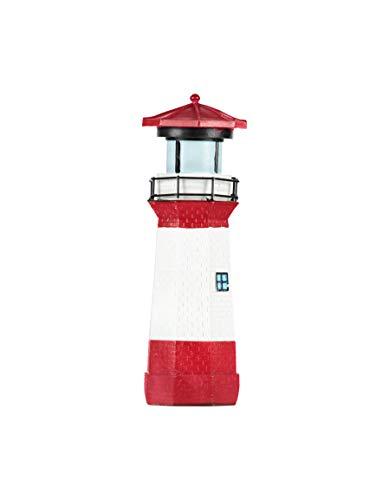 incubado 1PLUS Polyresin Leuchtturm Gartendeko für den Garten, außen/Outdoor - auch als Baddeko geeignet