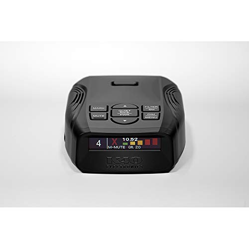 K40 Electronics Platinum100 Portable Radar Laser Detector - GPS | Long Range Detection | OLED | Advanced Filtering | Wireless Remote Connectivity